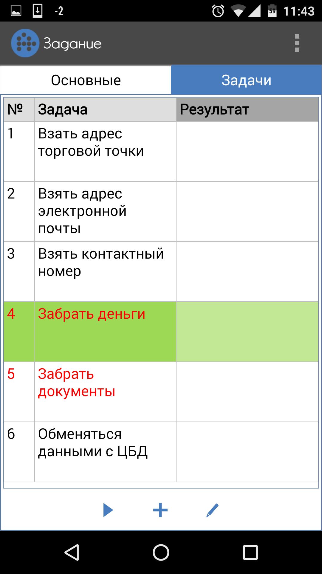 Список задач торгового агента